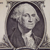 George Washington in front of the old one dollar banknote — Stock Photo