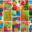 Collage of photos with different sweets — Stock Photo #59865675