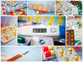 Pills collage — Stock Photo