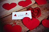 Love Valentine letter  in vintage style — Stock Photo