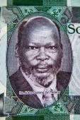 One Pound 2011 Banknote from South Sudan. Sudanese politician a — Stock Photo