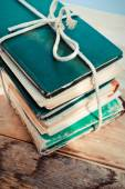 An old book with a crumpled sheet and hardcover — Stock Photo