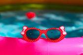 Beautiful children is sunglasses — Stock Photo
