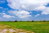 Vintage Propeller Airplanes — 图库照片