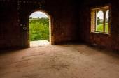 Looking through arch door — Stock Photo