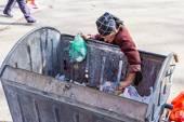 Vrouw in armoede — Stockfoto