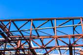 Rural disused steel construction — Stock Photo