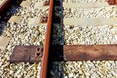 Replaced railroad sleepers — Stock Photo