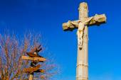Cross against the blue sky — Stock Photo