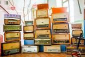 Vintage radio tuner receivers — Stock Photo
