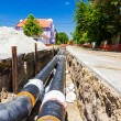 New pipeline in the process of building — Stock Photo #70512977