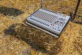 Sound mixer control console. — Stock Photo