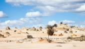 Alien moonscape Lake Mungo Australia — Stock Photo