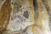 Art in Yourambulla cave Flinders Ranges Australia — Stockfoto