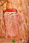 Aboriginal caterpillar drawing — Stock Photo