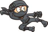 Fliegender Ninja-kick — Stockvektor