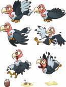 Vulture sprites — Stock Vector