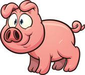 Little pig — Stock Vector