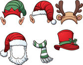 Christmas hats — Stock Vector