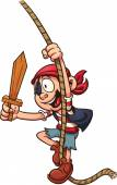 Pirate boy — Stock Vector