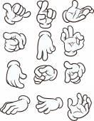 Cartoon hands — Stock Vector