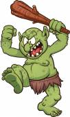 Cartoon troll — Stock Vector