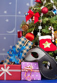 Christmas accessories — Stock Photo