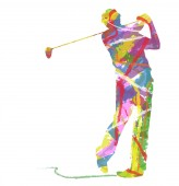 Abstract Golf — Vettoriale Stock