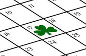 Calendar with St. Patrick's day — Stock Photo