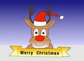 Illustration: Rudolph wishing Merry Christmas — Photo