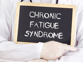 Doctor shows information: chronic fatigue syndrome — Stock Photo