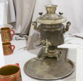 Samovar - a machine for preparing hot water — Stockfoto
