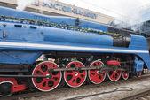Soviet-speed passenger steam locomotive — ストック写真