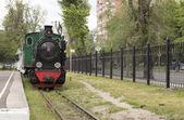 Narrow-gauge steam locomotive — Stock Photo