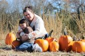 Love the pumpkin patch — Stock Photo