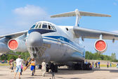 Airplane IL-76MD at the open day at the airport Migalovo — Foto de Stock