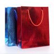 Colourful paper shopping bags isolated on white — Stock Photo #58239867