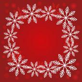 Kerstmis sneeuwvlokken achtergrond vector — Stockvector