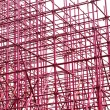 Complex scaffolding setup for a stage on white background — Stock Photo #59928611