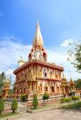 Pagoda Wat Chalong temple in Phuket Thailand  — Stock Photo