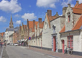 Street in Bruges, Belgium — Stock Photo