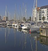 Yacht Bay in Ostend, Belgium — Stock Photo