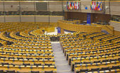 The European Parliament debating chamber — Stock Photo