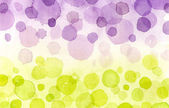 Purple and yellow bubbles — Stock Photo