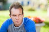 Pensive man portrait — Stock Photo
