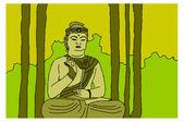 Meditation buddha — Stock Vector