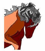 Horse stallion on a white background — Stock Vector