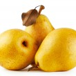 Three yellow juicy pears — Stockfoto #59371327