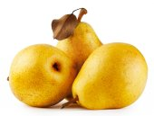 Three yellow juicy pears — Stock Photo