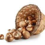 Mushrooms in a wicker basket — Stock Photo #59658961